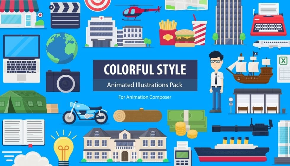 colorful style pack for animation composer フラッシュバックジャパン